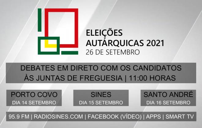 Rádio Sines realiza debates com os candidatos às juntas de freguesia de Porto Covo, Sines e Santo André